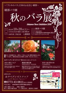 秋のバラ展チラシ